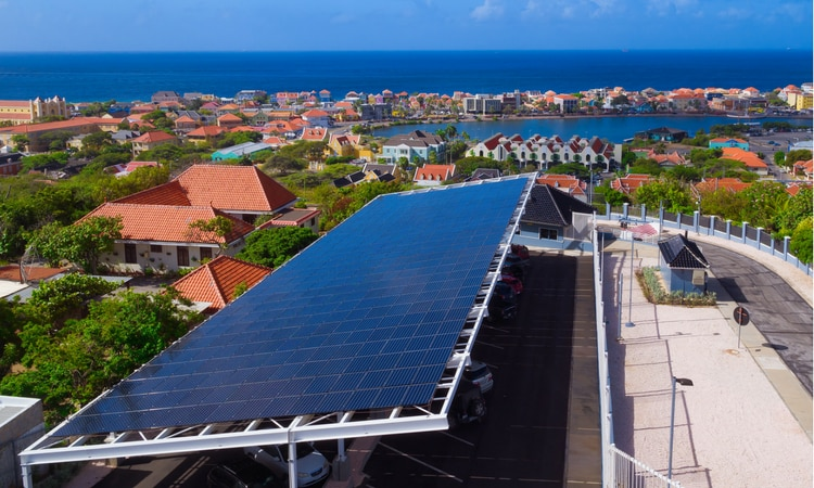 Solar Panel Array at U.S. Consulate General Curacao