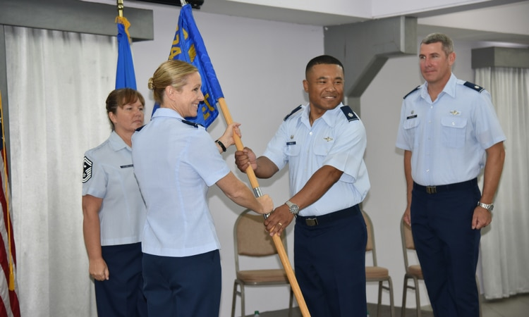 2017 Change of Command at USFOL. Lt.Col. James Wells Assumes Command